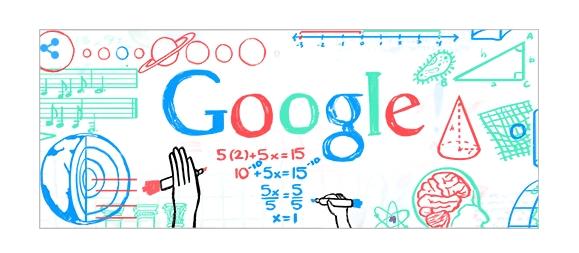 Doodle de google Día del maestro República Dominicana