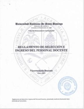 Reglamento Docente UASD